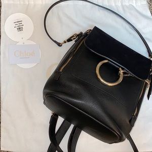 NWT Chloe Small Faye Suede &  Leather Backpack